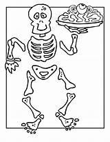 Skeleton Coloring Pages Printable Halloween Bones Clipart Human Sheet Anatomy Funny Skull Bestcoloringpagesforkids Minecraft Sheets Tv Ben Elvis Scary Activities sketch template