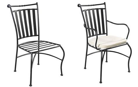 chaise en fer forgé de jardin chaise jardin fer
