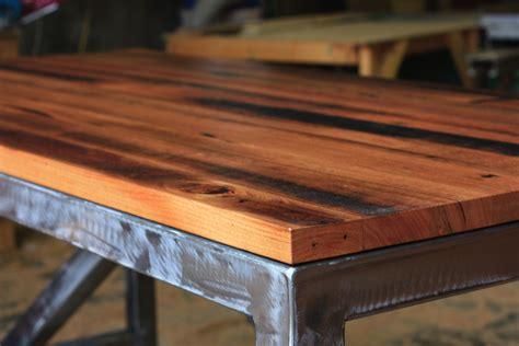 30223 custom metal furniture best solid timber recycled messmate tabletop wblue
