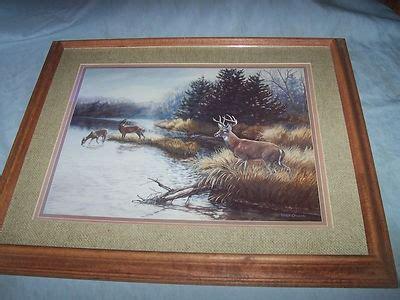 home interior deer pictures vintage home interior deer picture glass wood frame julie