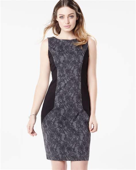 lace form fitting sleeveless dress rwco