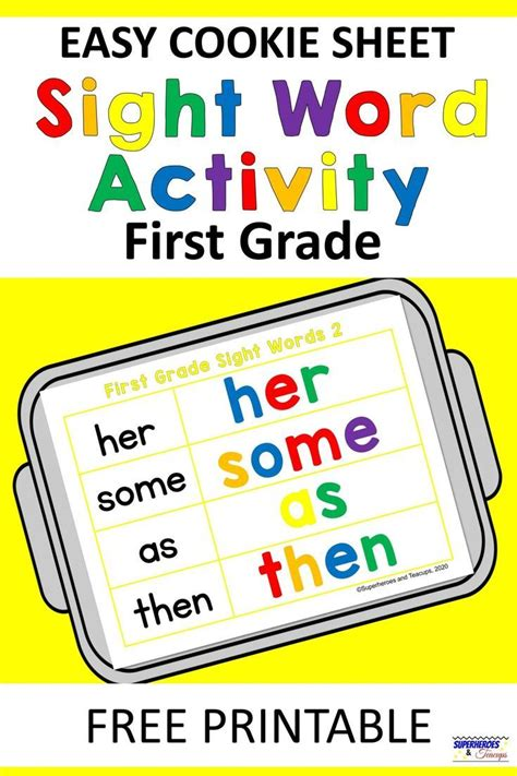 easy cookie sheet  grade sight word activity