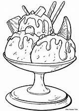 Ice Cream Glaces Coloriages Coloriage Dessin Coloring Its Lescoloriages Cakes Suivant Precedent sketch template