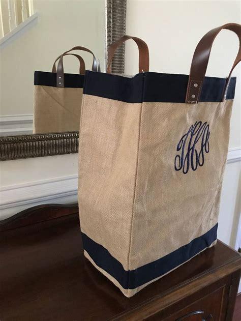 market bag personalized totes monogram grocery bag burlap etsy burlap tote bags bags