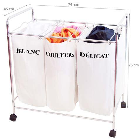 panier a linge sale 3 compartiments panier 224 linge 3 compartiments tissu
