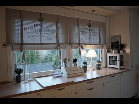 diy kitchen curtains    easy   youtube