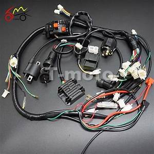 Full Wiring Harness Loom Ignition Coil Cdi For 150cc 200cc