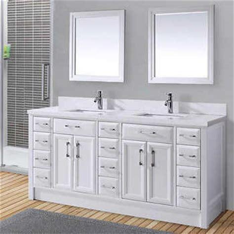 calais 75 quot white sink vanity by studio bathe