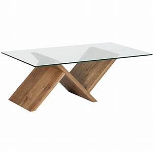 Verre Pour Table Basse : table basse plateau verre tremp harvey casita ~ Teatrodelosmanantiales.com Idées de Décoration
