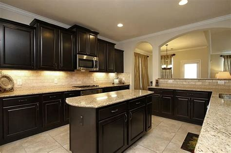 dark kitchen cabinets with light countertops 14707 yellow begonia dr cypress tx 77433 photo granite