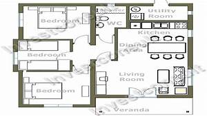 cheap 3 bedroom house plan small 3 bedroom house floor With plan of a three bedroom house