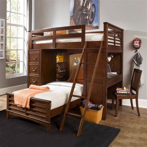Bunk Beds With Desk And Built In Storage Kid S Room