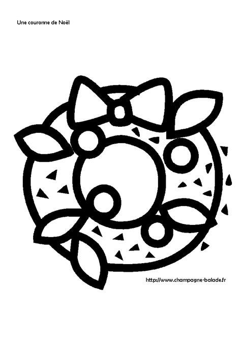 couronne de noel houx coloriage petite section cycle