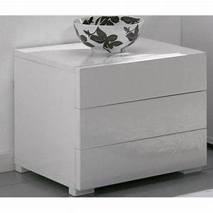Table De Chevet Blanc Laqué : table de chevet blanc laqu pas cher design en image ~ Teatrodelosmanantiales.com Idées de Décoration