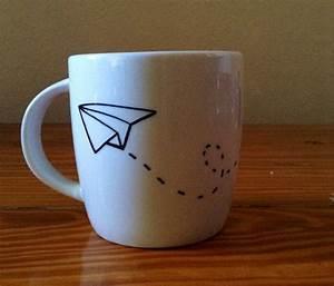 Tassen Bemalen Stifte : paper plane mug diy pinte ~ Yasmunasinghe.com Haus und Dekorationen