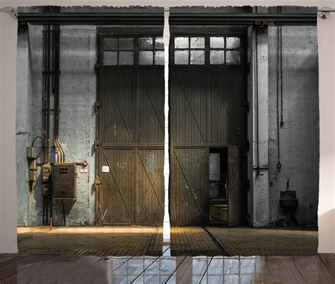 entrance of rustic factory from 50s industrial decor image