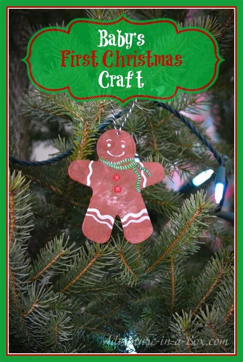 babys  christmas craft  gingerbread man ornament