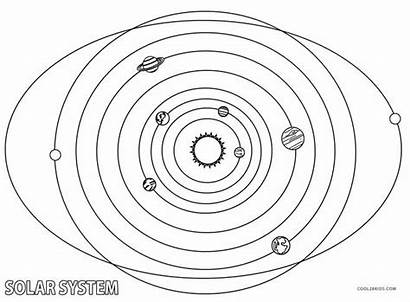 Solar Coloring Pages System Printable Drawing Cool2bkids