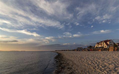 hintergrundbilder abends  strand von laboe