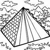 Coloring Pyramid Building Mexican Aztec Drawing Pages Coloringsky Colouring Sheet Sky Mexico Sheets Getdrawings sketch template