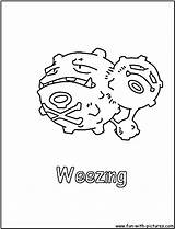 Coloring Weezing Pages Pokemon Poison Fun Seviper Printable Colouring Nidoking Print sketch template