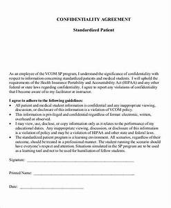 8 patient confidentiality agreement free sample example With patient confidentiality agreement template