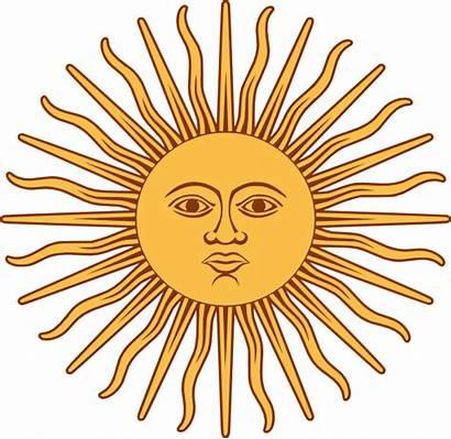 Argentina Sun Flag Clip Bandera Symbol Argentinian