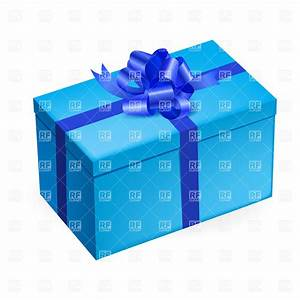 Rectangular light blue gift box with shiny bow, 30240 ...