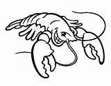 Lobster Coloring Smiling Drawing Cartoon Getdrawings Colorear Print Coloringcrew Clipartmag Animals Sea sketch template