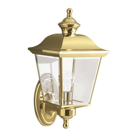 traditional outside brass carriage l wall light with
