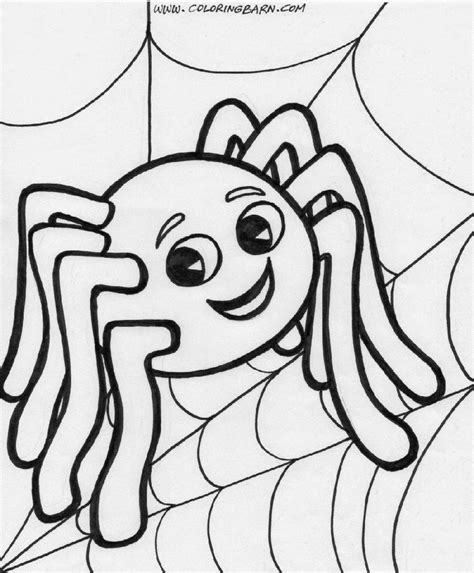 Spider Coloring Sheet  Free Coloring Sheet