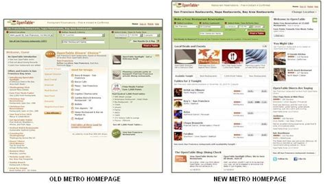 opentable 1000 point tables opentable introduces new metro home page with improved