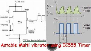 Ic555 Timer Astable Multi Vibrator Output Wave Forms