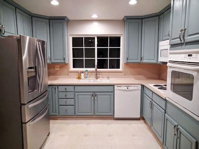 persian blue milk painted kitchen cabinets general