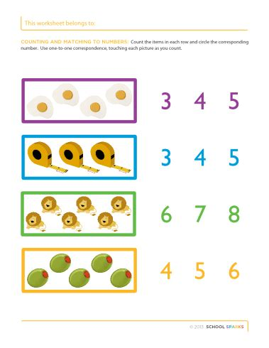 one to one correspondence definition preschool kindergarten math worksheets one to one correspondence 864