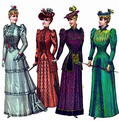 Victorian Clipart Ladies Graphics Four Clipartqueen