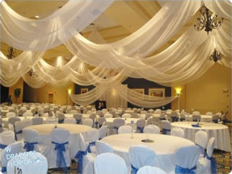 Ceiling Drapes For Weddings by W Drapings Florida Ceiling Drapings And Wedding Chiffon