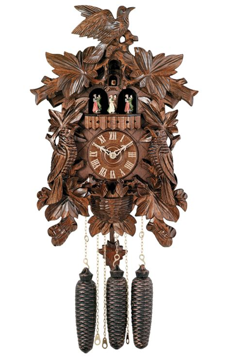 engstler carved style  day musical cuckoo clock