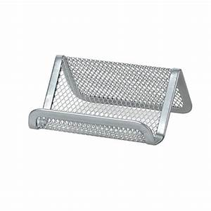 Officemax mesh business card holder silver by office depot for Officemax business card holder