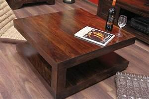Couchtisch Quadratisch Holz : couchtisch quadratisch walnuss holz massiv sheesham 90x90x40 ~ Buech-reservation.com Haus und Dekorationen