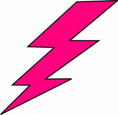 Lightning Bolt Bolts Cartoon Clip Clipart Pink