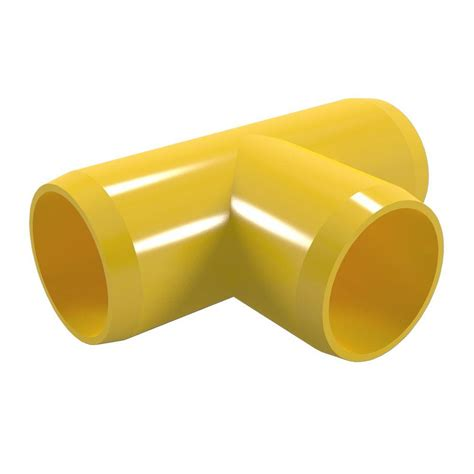 formufit 1 1 4 in furniture grade pvc in yellow 4 f114tee ye 4 the home depot