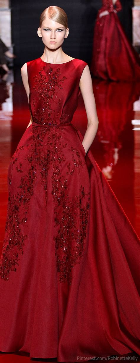 Elie Saab Haute Couture  Fw 2013  Red Pinterest