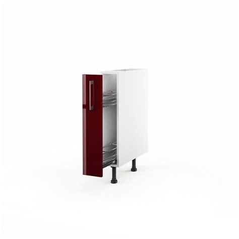 porte meuble de cuisine meuble de cuisine bas 1 porte griotte h 70 x l 15 x