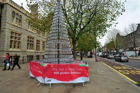 council s christmas tree is made from 900 plastic bottles