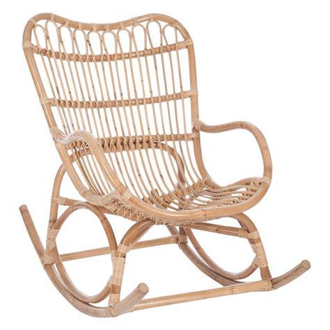 rocking chair en rotin rocking chair bois rotin naturel ricky univers assises