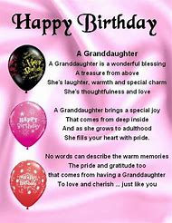 Best Granddaughter Birthday