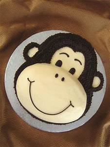 monkey birthday cake lovetoknow With monkey face template for cake