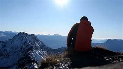 Hiking Mountains Wind Hike Giphy Imagens Cinemagraph