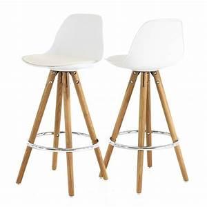Chaise Bar Bois : chaise de bar bois blanc cuisine en image ~ Teatrodelosmanantiales.com Idées de Décoration